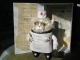 Кот.Доктор.врач.хирург.ретро.винтаж